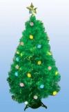 Елка декоративная светящаяся 150см с LED цветами и звездой