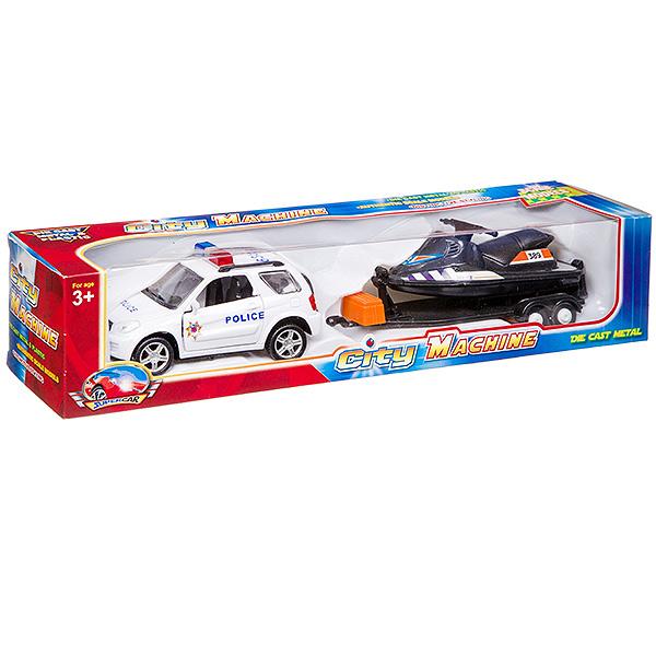 """Машинка """"Police"""" с прицепом"""
