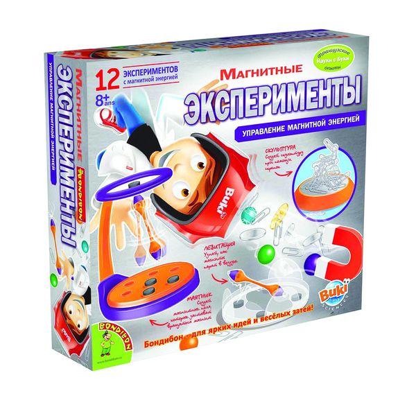 """""""Магнитные эксперименты"""" - французские научно-познавательные опыты Науки с Буки BONDIBON (12 экспериментов)"""