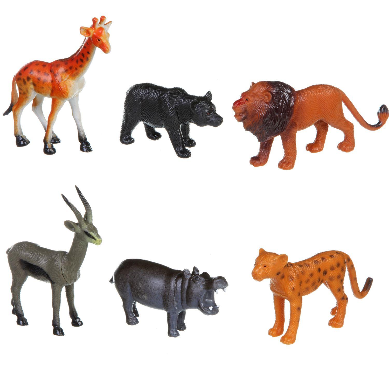 """""""Ребятам о зверятах. Дикие животные"""" - набор животных BONDIBON"""