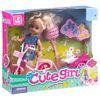 """""""Куколка на велосипеде с собачкой"""" - набор игровой Cute Girl"""