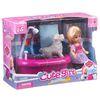 Набор игровой Cute Girl с куколкой, купание собачки