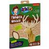 "Деревянный 3D-пазл ""Голова оленя"" - набор для творчества Bondibon"