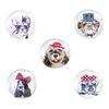 """Символ года - набор из 5 магнитов на карте """"Собака"""""""