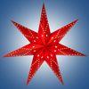 Гирлянда-светильник электрическая Рождественская звезда, цвет красный, подключается к электросети