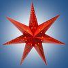 Гирлянда-светильник электрическая Рождественская звезда, цвет красный, питается от 3-х АА батареек