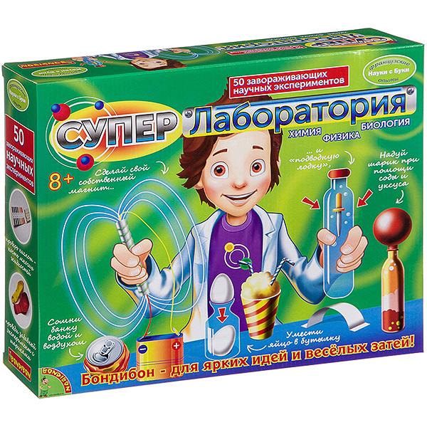 """""""Супер лаборатория. 50 Экспериментов"""" - Французские опыты Науки с Буки Bondibon"""