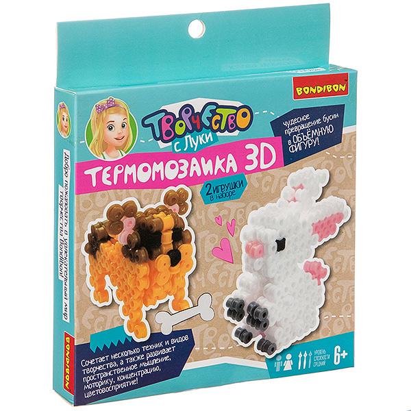 """""""Термомозаика  3D. Заяц и собака"""" - набор для творчества  BONDIBON"""
