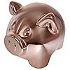 Символ года копилка свинья, покрытие под бронзу