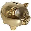 Символ года копилка свинья, покрытие под золото