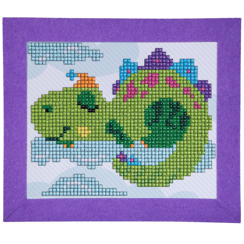 """""""Алмазная мозаика. Картина Динозаврик"""" - набор для творчества  BONDIBON."""