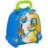 """Игровой набор Bondibon """"Кухня"""" в голубом чемоданчике со светом и звуком 31 аксесс."""